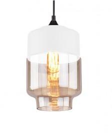 Wisząca lampa Manhattan Chic 2 biała-amber