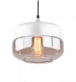 Wisząca lampa Manhattan Chic 3 biała-amber