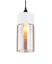 Wisząca lampa Manhattan Chic 4 biała-amber