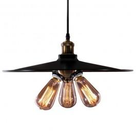 Wisząca lampa Eindhoven Loft 1 z czarnym kloszem