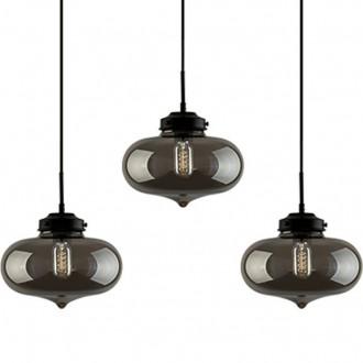Potrójna lampa wisząca London Loft 1 CL ze szkła
