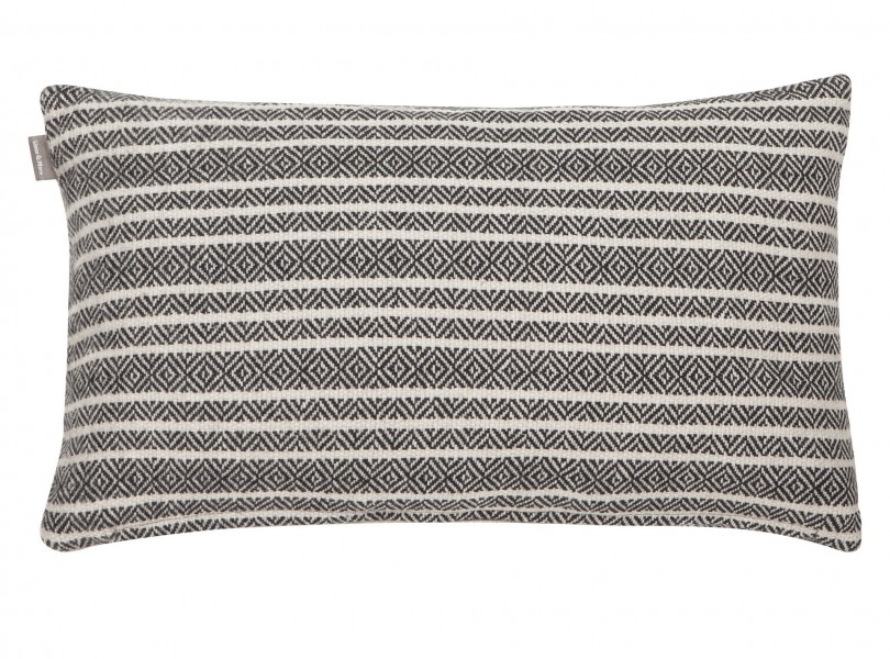 Dekoracyjna poduszka w paski Winford 30x50 biało czarna