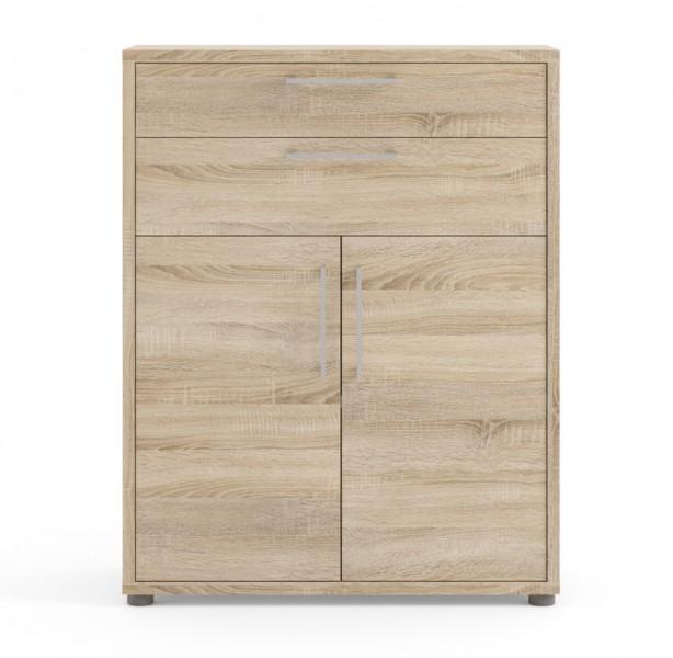 Regał do biura z drzwiami i szufladami Prima dąb sonoma