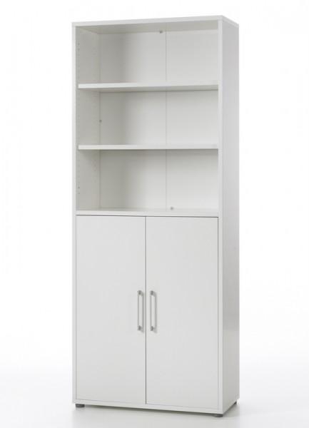 Regał biurowy z drzwiami Prima 5 biały