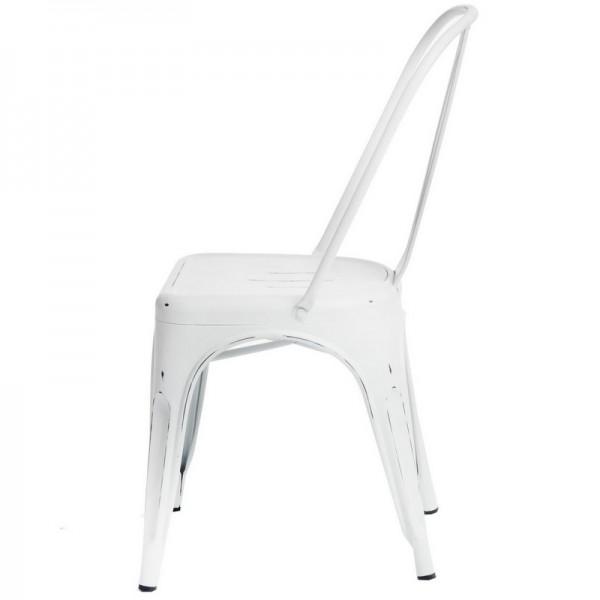 Designerskie krzesło kawiarniane z metalu Paris Antique mat