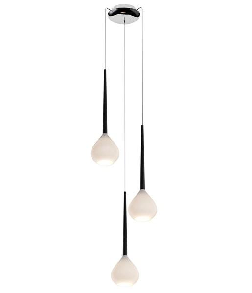 Potrójna lampa wisząca Libra na okrągłej podsufitce