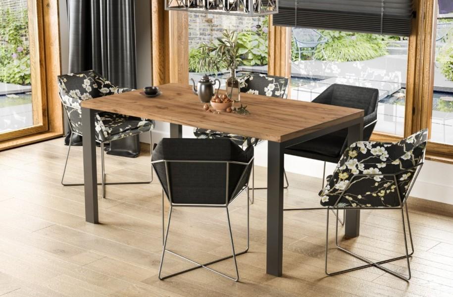 Stół Garant 125 z blatem 80x80 rozkładany do 125 cm