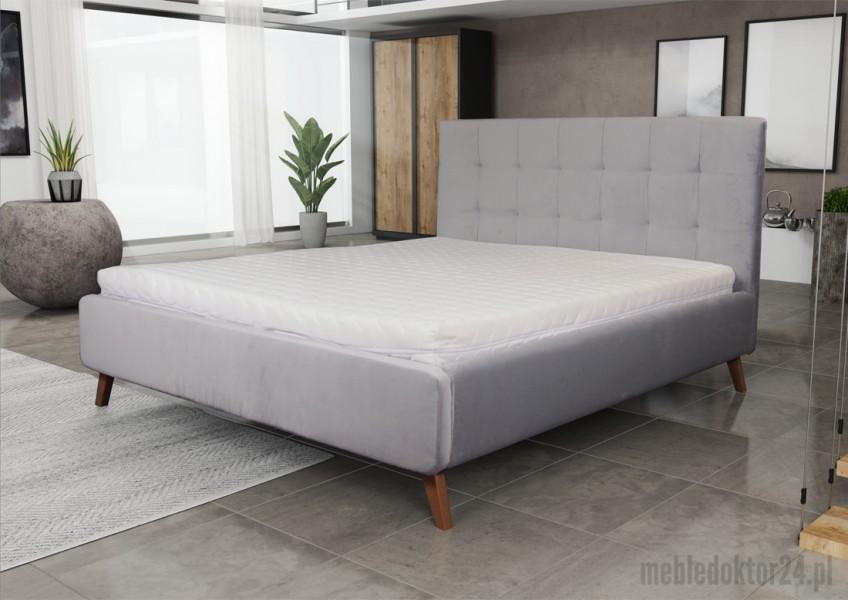 Skandynawskie łóżko tapicerowane z zagłówkiem Malmo