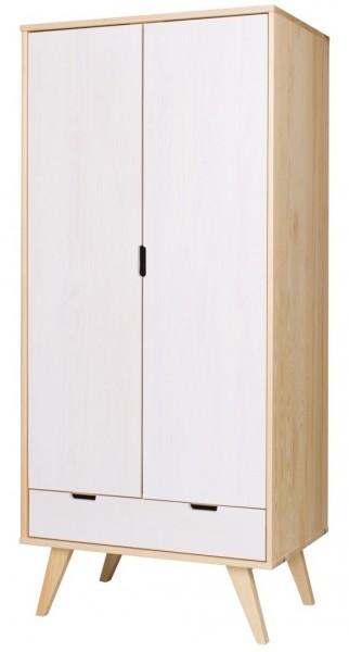 Drewniana szafa dwudrzwiowa Malmo w stylu skandynawskim