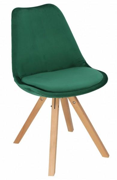 Tapicerowane tkaniną velvetową krzesło z podstawą star square Norden