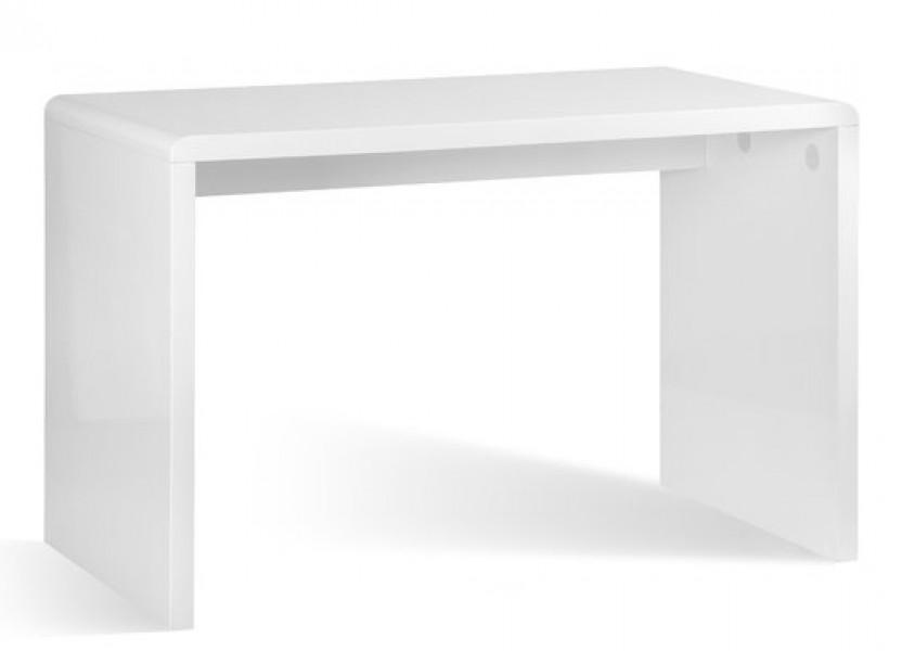 Białe biurko w wysokim połysku Bise