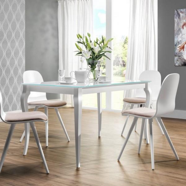 Fantastyczny Stół ze szklanym blatem Bresso - Stoły jadalniane - Kupmeble.pl QN46
