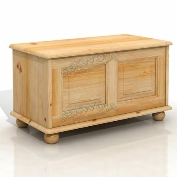 Kufer drewniany na kulach