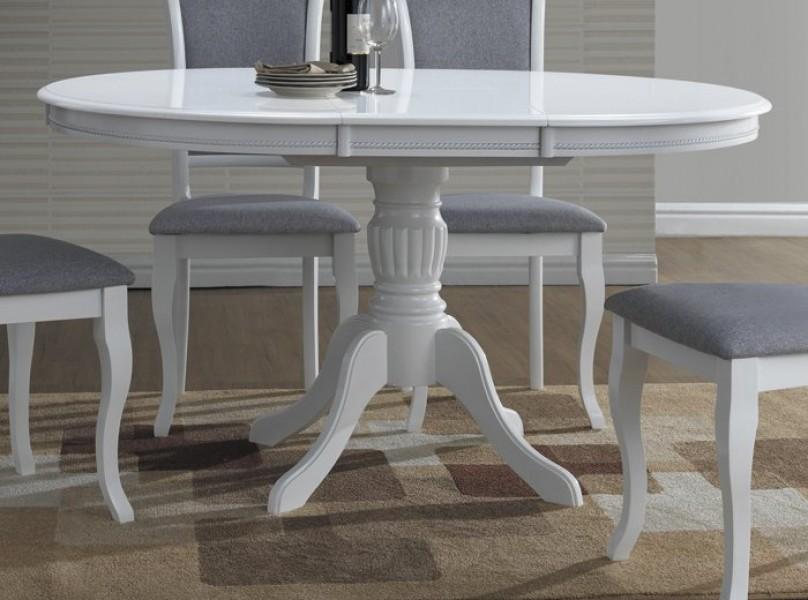 W Mega Okrągły biały rozkładany stół Olivia - Stoły jadalniane - Kupmeble.pl HA56