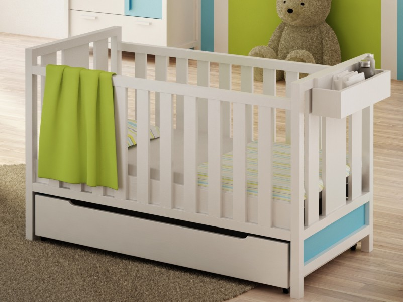łóżeczko Tapczanik Z Litego Drewna 70x140 Easy Ze Stelażem