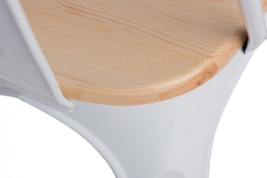 Krzesło Paris Wood sosna naturalna insp. Tolix