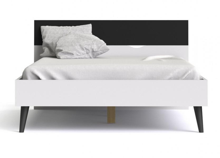 łóżko Oslo 160x200 Biało Czarne