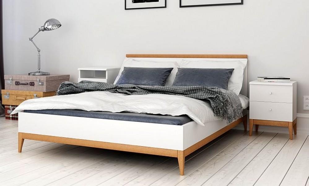 łóżko Bukowo Sosnowe Visby Livia