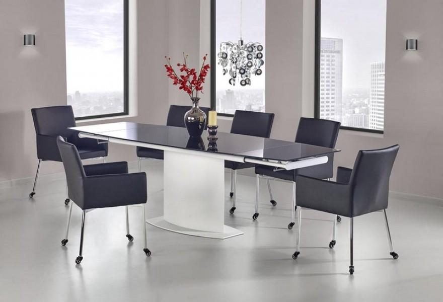 Genialny Rozkładany stół Anderson ze szklanym blatem - Stoły jadalniane UD27