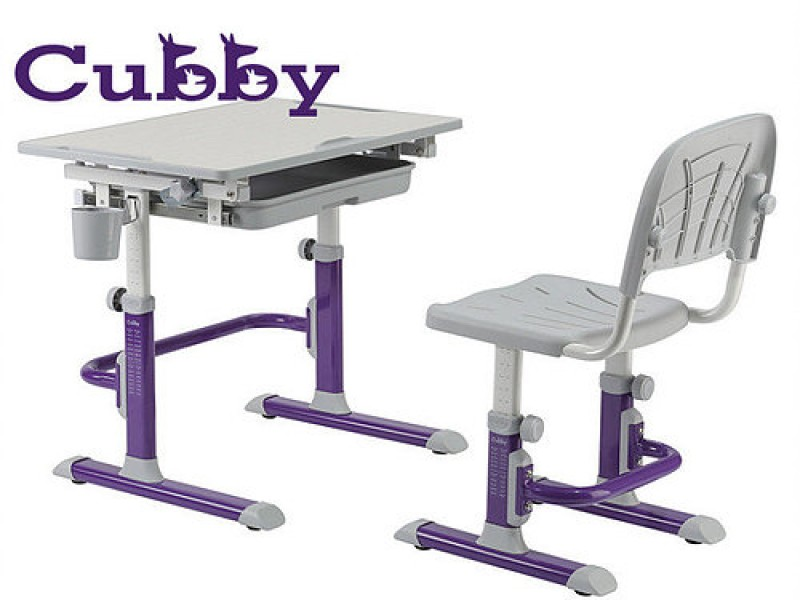 Genialny Regulowane biurko i krzesło dziecięce Cubby Lupin - Biurka RQ97