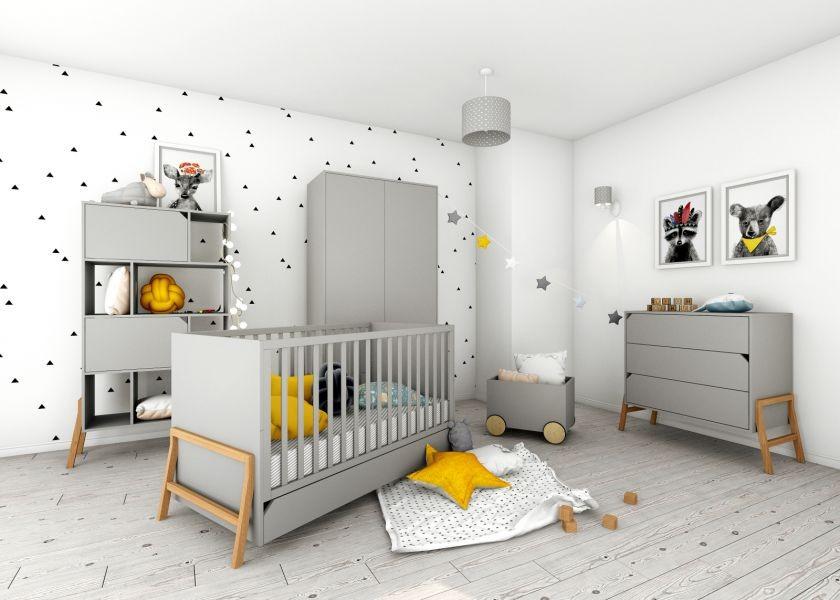 Regał do pokoju dziecięcego Lotta Grey