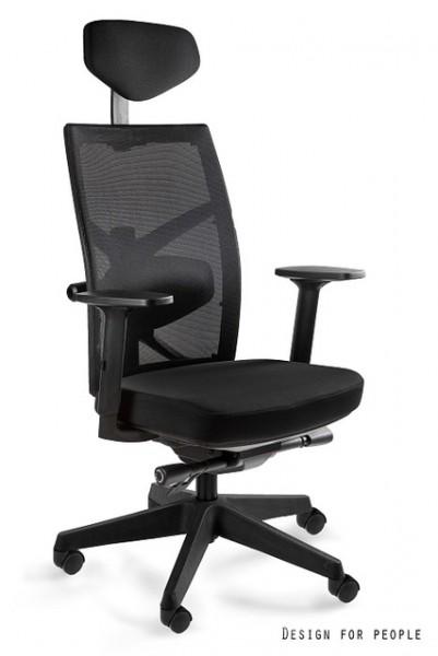 Ergonomiczny fotel biurowy z regulacjami i podparciem lędźwiowym Tune