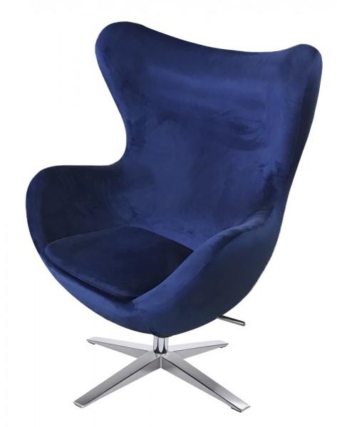 Ogromnie Fotel obrotowy i bujany Egg szeroki Velvet - Fotele wypoczynkowe CE15