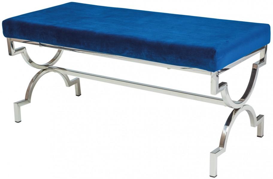 Tapicerowana ławka na ozdobnej podstawie Mango